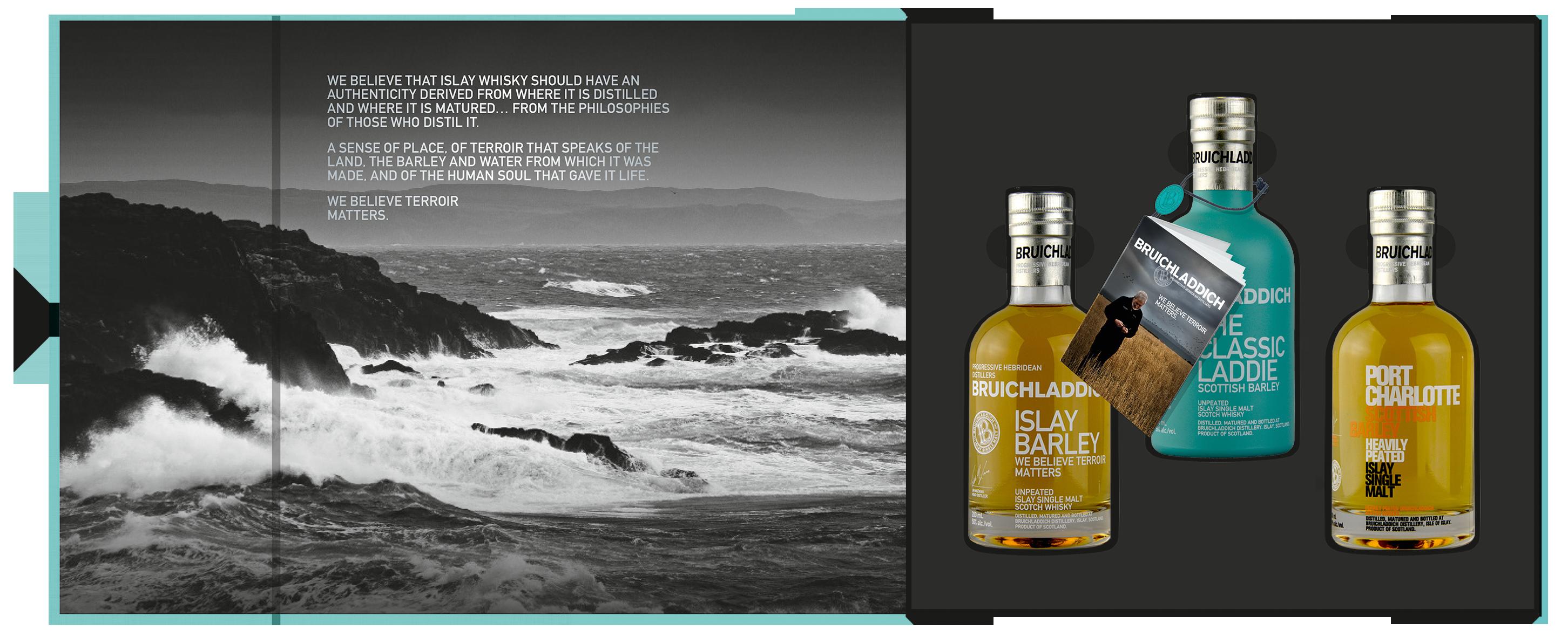 Bruichladdich Whisky Geschenkpackung 3x200ml Set