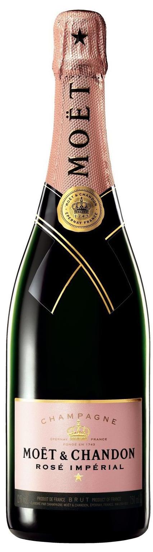 Champagner Moët Rosé Impérial mit Glas