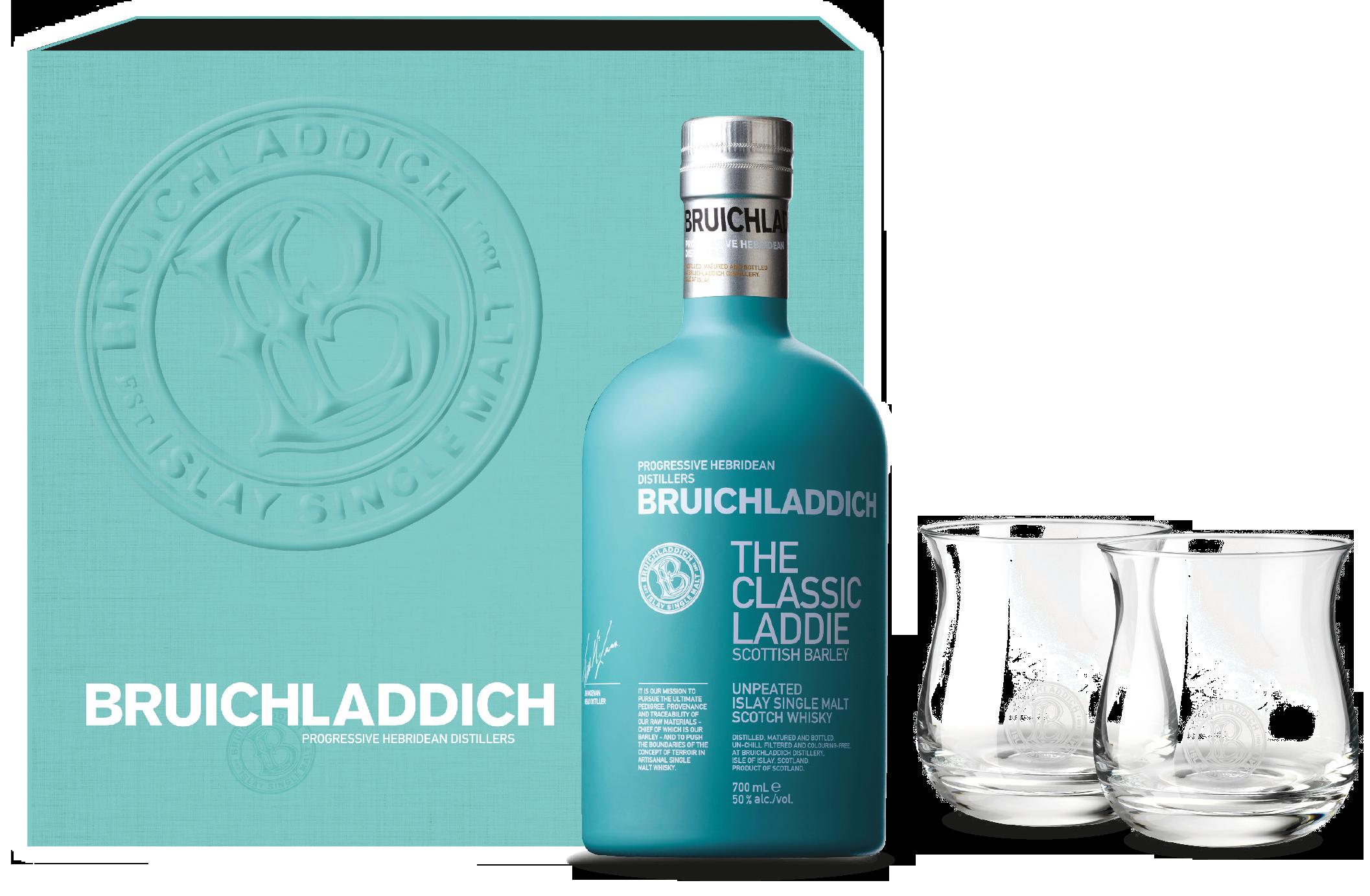 Bruichladdich Scottish Barley Whisky in Geschenkpackung